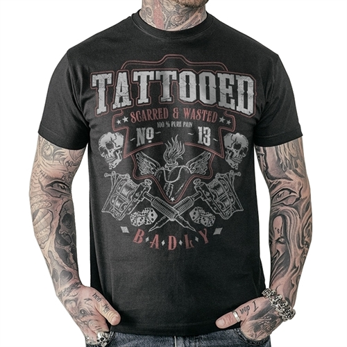 Badly - Tattooed Scarred, T-Shirt