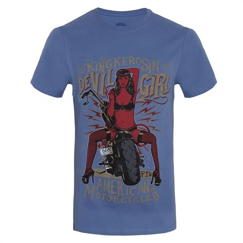 King Kerosin - Devil Girl 666, T-Shirt blau