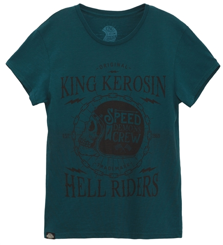 King Kerosin - Speed Demon Crew, T-Shirt blau