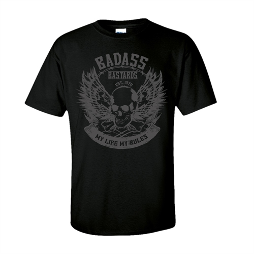 Badass Bastards - My Life My Rules, T-Shirt