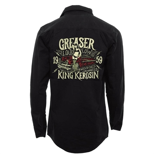 King Kerosin - Greaser Car Club, Worker-Shirt