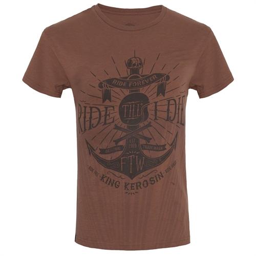 King Kerosin - Ride Till I Die, T-Shirt braun
