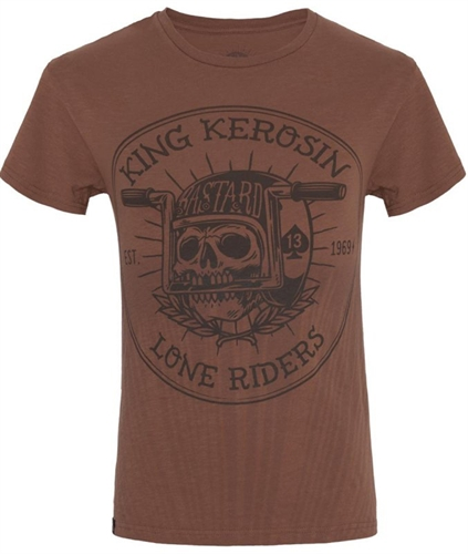 King Kerosin - Lone Riders, T-Shirt braun