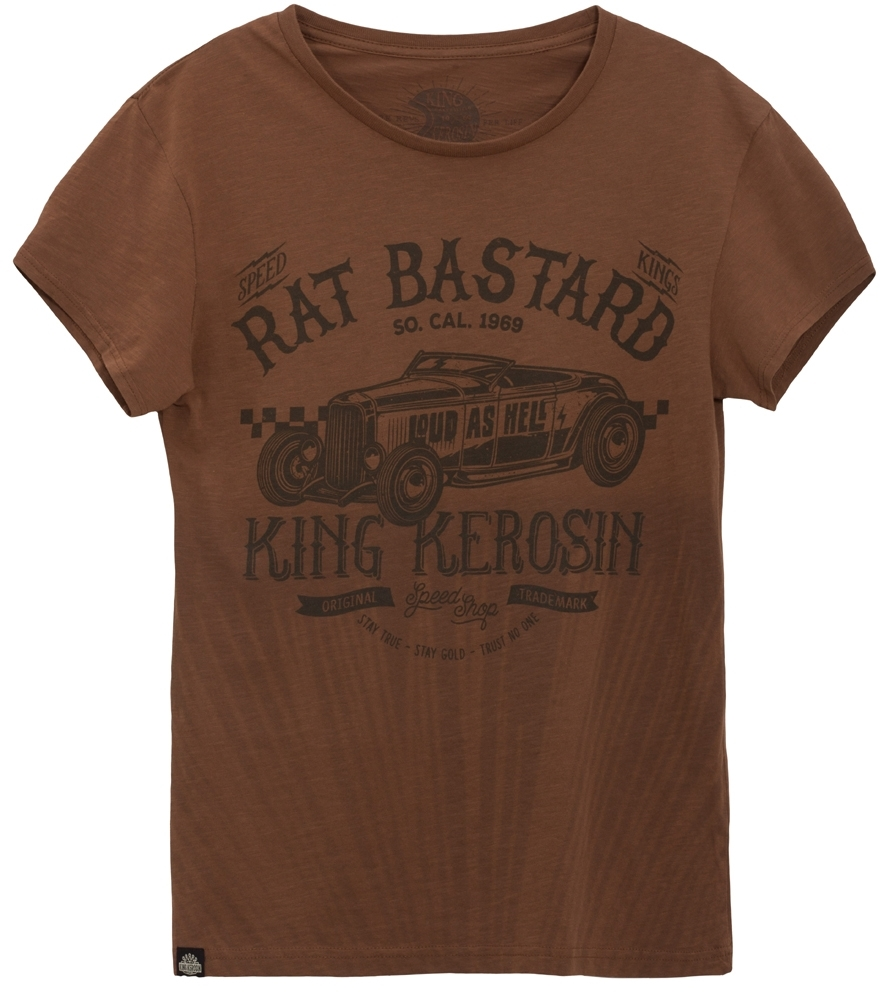 King Kerosin - Rat Bastard, T-Shirt braun