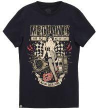 King Kerosin - Mechanic Pin Up, T-Shirt schwarz