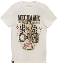 King Kerosin - Mechanic Pin Up, T-Shirt weiß