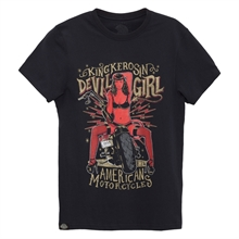 King Kerosin - Devil Girl 666, T-Shirt schwarz