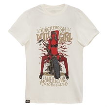 King Kerosin - Devil Girl 666, T-Shirt weiß