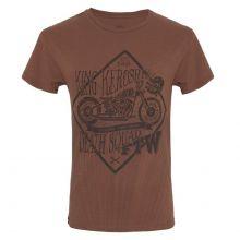 King Kerosin - Death Squad, T-Shirt braun