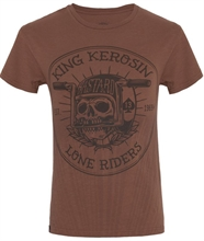 King Kerosin - Lone Riders, T-Shirt braun