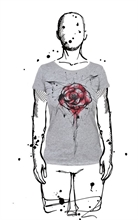Amoklines - Rose, Girl-Shirt