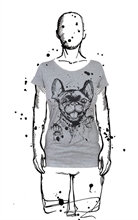 Amoklines - Frenchie, Girl-Shirt